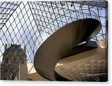 Stairs In Louvre Museum. Paris.  Canvas Print by Bernard Jaubert