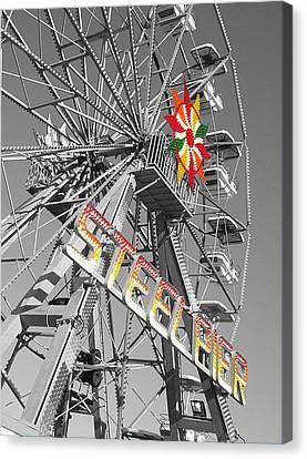 Steel Pier Canvas Print by Heather Weikel