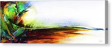 Canvas Print featuring the mixed media Straight Paths by Shevon Johnson