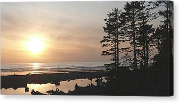 Sun Down At  Kalaloch Canvas Print