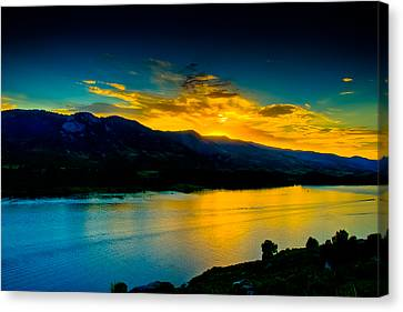 Sunset At Horsetooth Reservoir Canvas Print