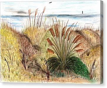 Sunset Beach Sea Side Canvas Print