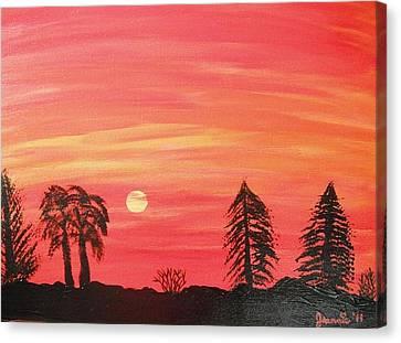 Sunset Glow Canvas Print by Jeannie Atwater Jordan Allen