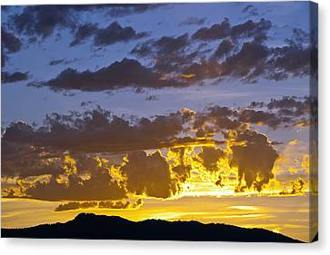 Sunset Over Horsetooth Rock Canvas Print