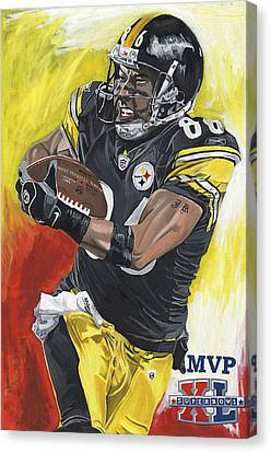 Super Bowl Mvp Hines Ward Canvas Print by David Courson