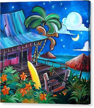 Surf Shack Canvas Print by Jerri Grindle