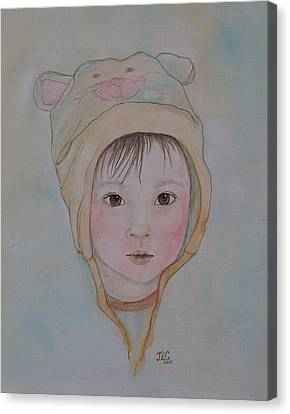 Canvas Print featuring the painting Sweet Baby by Jane Chesnut