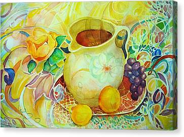 Canvas Print featuring the painting Sweet Tea by Anne Dentler