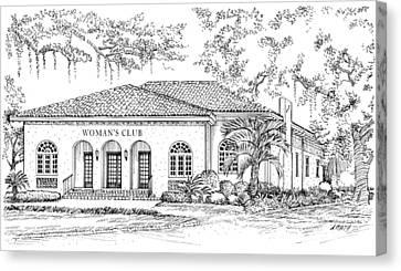 Tallahassee Womens Club Canvas Print