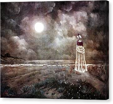 The Fading Memory Of Annabel Lee Canvas Print by Laura Iverson