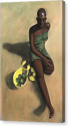 The Fruit Seller Canvas Print by L Cooper