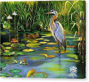 The Heron Canvas Print by Beth Smith