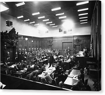 The Nuremberg Trials. The Palace Canvas Print