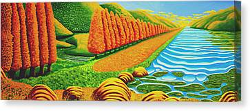 The Path Canvas Print by Barbara Stirrup