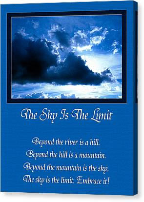 The Sky Is The Limit Canvas Print by Andee Design
