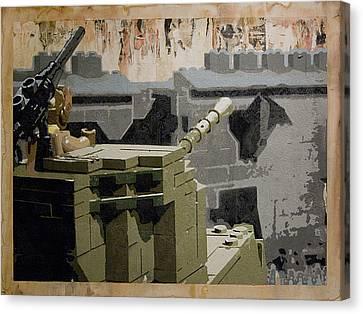 The Storming Of Berlin Canvas Print by Josh Bernstein