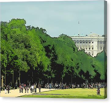 The Washington Dc Mall Canvas Print by Russ Harris