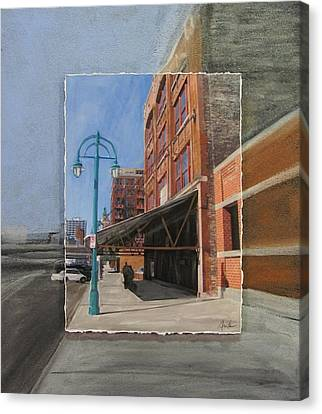 Third Ward - Market Street Canvas Print by Anita Burgermeister