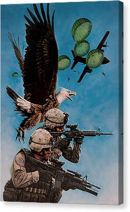 Tip Of The Spear Canvas Print by Dan  Nance