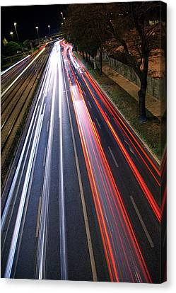 Traffic Lights Canvas Print by Carlos Caetano