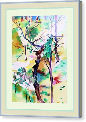 Tree Lovers Canvas Print by Mindy Newman