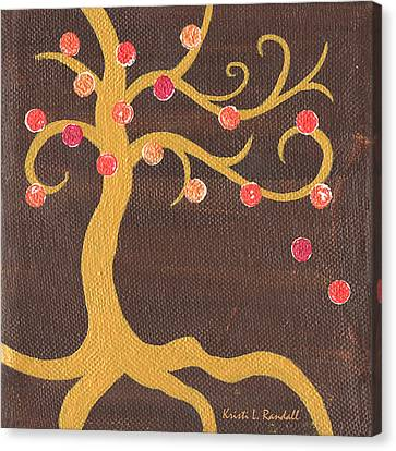 Tree Of Life - Left Canvas Print by Kristi L Randall