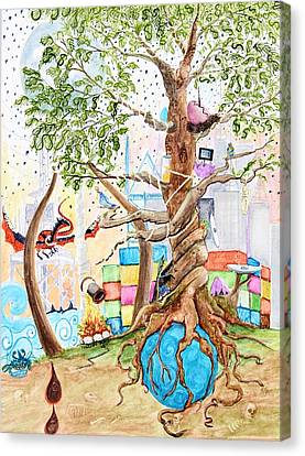 Tree Of Life Spent Canvas Print by Pauline Ross