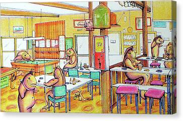 Trout Hotel Canvastown Canvas Print by Barbara Stirrup