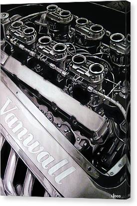 Vanwall 12-cyl Engine Canvas Print by Uli Gonzalez