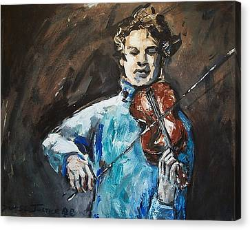 Violinist1 Canvas Print by Denise Justice