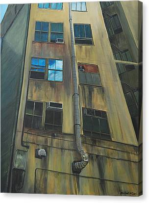 Wall St Alley Canvas Print by Keith Higgins