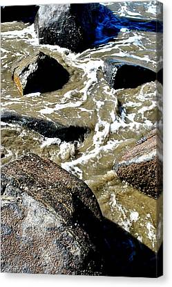 Canvas Print featuring the photograph Wash Me Away by Amanda Eberly-Kudamik