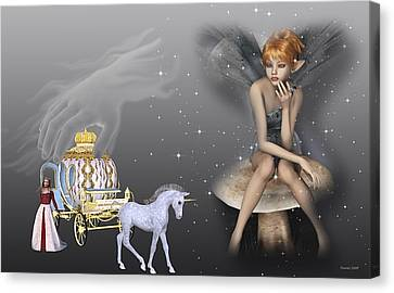 Watching Cinderella Canvas Print by Morning Dew