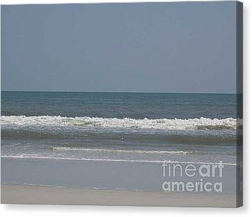 Watching The Waves Canvas Print by Barb Montanye Meseroll