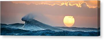 Michael Sweet Canvas Print - Wave And Sun by Michael Sweet