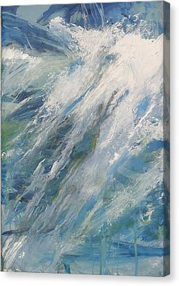 Canvas Print featuring the painting Wave by John Fish