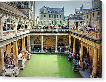 Canvas Print featuring the photograph When In Rome by Wallaroo Images
