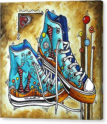 Love Laces Canvas Print - Whimsical Shoes By Madart by Megan Duncanson