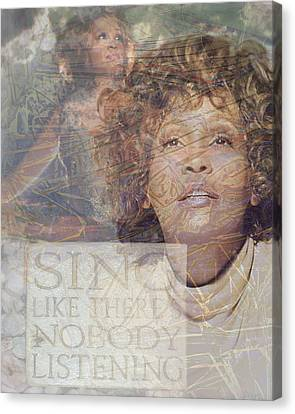 Whitney Houston Sing Canvas Print