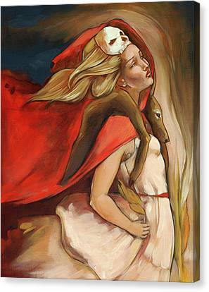 Blonde Canvas Print - Who Carries Who by Jacque Hudson