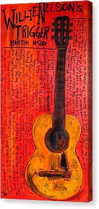 Willie Nelson's Trigger Canvas Print by Karl Haglund