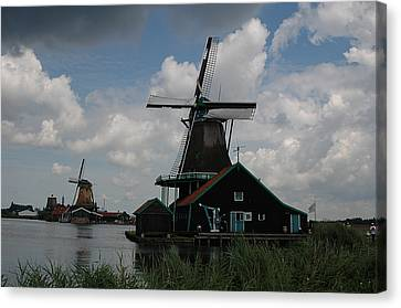 Canvas Print featuring the photograph Windmill 3 by Vilas Malankar