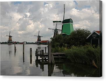 Canvas Print featuring the photograph Windmills 2 by Vilas Malankar