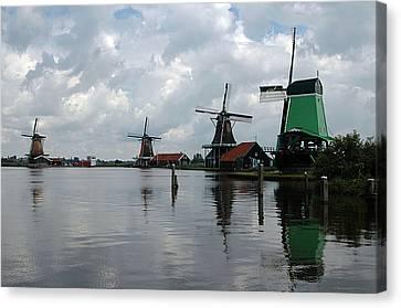 Canvas Print featuring the photograph Windmills by Vilas Malankar