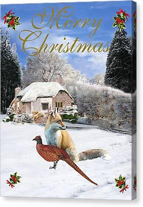 Winter Garden Christmas Canvas Print
