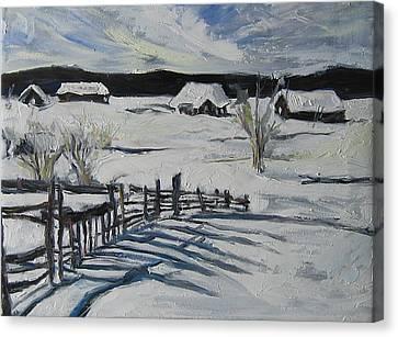 Winter Scene Canvas Print by Debora Cardaci