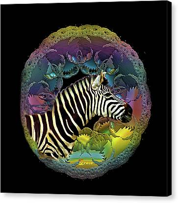 Zebra Canvas Print by Julie Grace