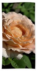 Hand Towel featuring the photograph Orange Rose by Joy Watson