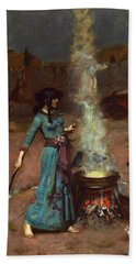 The Magic Circle Bath Towel by John William Waterhouse
