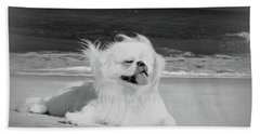 Bath Towel featuring the photograph Beachbum Black And White by Ania M Milo